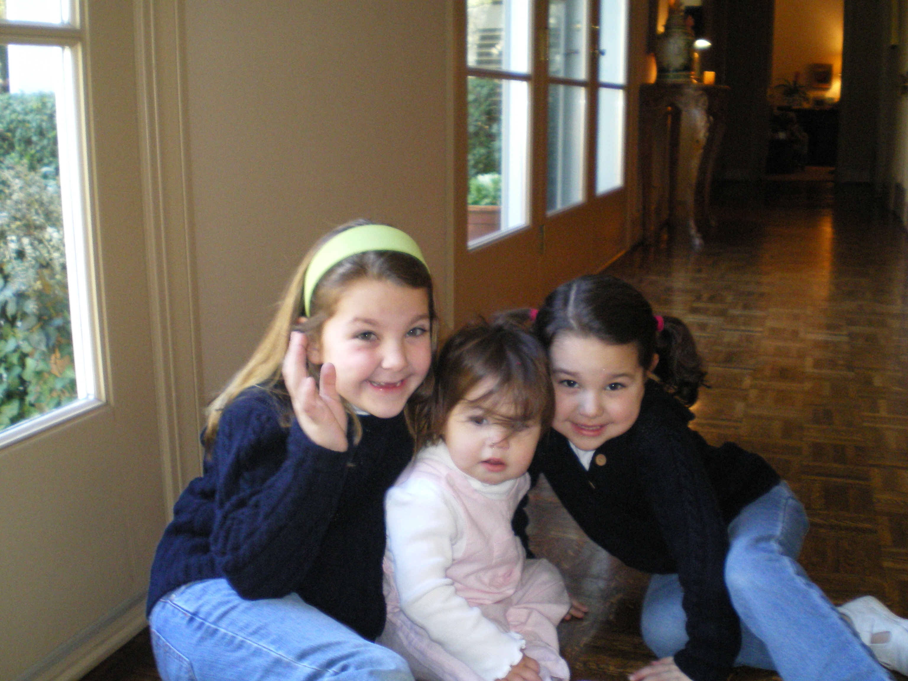 My Three Nieces - Macon, Kate, and Anne Shelton at My Parent's House in Dallas