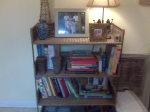 This is just a few of my cookbooks. I have more, a lot more.