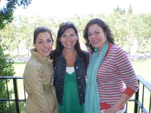 Allison, Sarah and I - Jordan Vineyard, Sonoma Valley, Memorial Day 2009