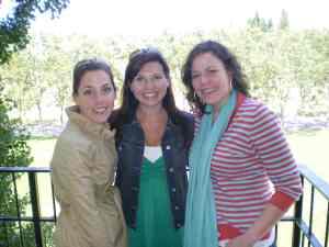 Allison, Sarah and I - Jordan Vineyard, Sonoma Valley, Memorial Day 2009